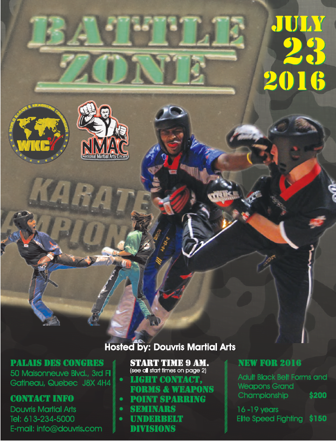 Battle Zone hosted by Douvris Martial Arts 2016